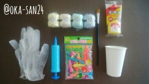 コットンボールランプの材料と道具