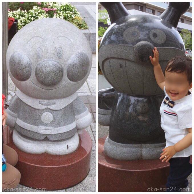 アンパンマンストリート石像