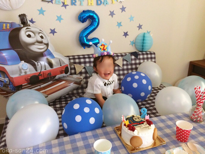 2歳誕生日飾りつけトーマス